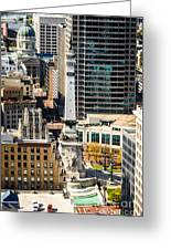 Indianapolis Aerial Picture Of Monument Circle Greeting Card