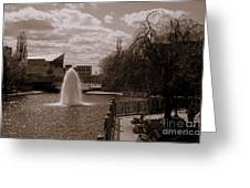 Indianapolis Canal Greeting Card