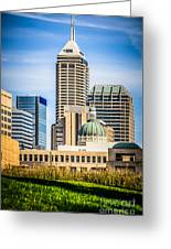 Indianapolis Cityscape Downtown City Buildings Greeting Card by Paul Velgos