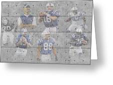 Indianapolis Colts Legends Greeting Card