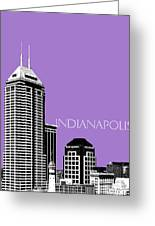 Indianapolis Indiana Skyline - Violet Greeting Card