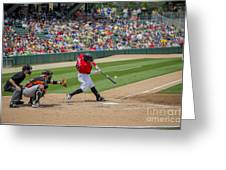 Indianapolis Indians Brett Carroll June 9 2013 Greeting Card