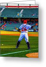 Indianapolis Indians Catcher Greeting Card