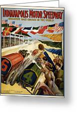 Indianapolis Motor Speedway - Vintage Lithograph Greeting Card