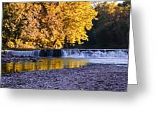 Indianhead Dam - Perkiomen Creek Greeting Card
