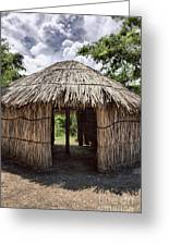 Indigenous Tribe Huts In Puer Greeting Card