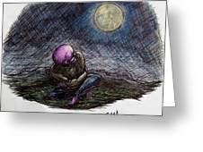 Indigo Night Greeting Card