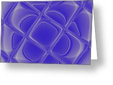 Indigo Petals Morphed Greeting Card