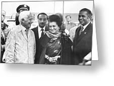 Indira Gandhi At Jfk Airport Greeting Card