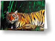 Indochinese Tiger Greeting Card