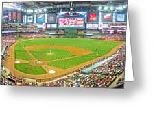 Indoors At Chase Field Greeting Card