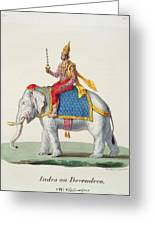 Indra Or Devendra, From Linde Greeting Card
