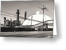 Industrial Art 2 Sepia Greeting Card