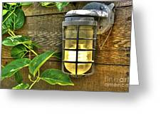 Industrial Outdoor Light Greeting Card