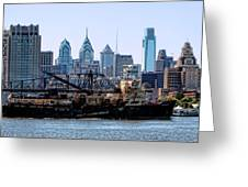 Industrial Philadelphia Greeting Card by Olivier Le Queinec