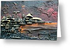 Industrial Port-part 1 By Rafi Talby Greeting Card