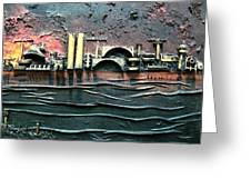 Industrial Port-part 2 By Rafi Talby Greeting Card