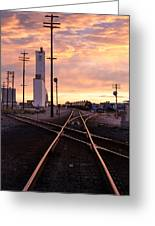 Industrial Rail Yard Greeting Card