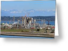 Industrial Refinery Greeting Card