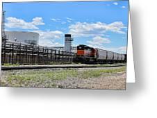 Industrial Train Greeting Card