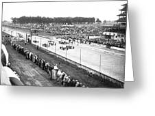 Indy 500 Auto Race Greeting Card