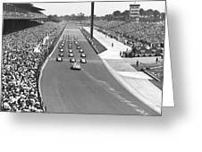 Indy 500 Parade Lap Greeting Card