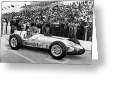 Indy 500 Race Car Greeting Card