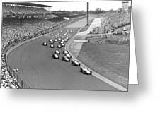Indy 500 Race Start Greeting Card
