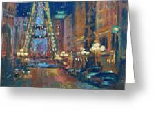 Indy Circle Christmas Greeting Card by Donna Shortt