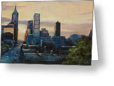 Indy City Scape Greeting Card