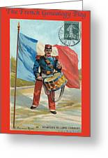 Infantry Of The Line Drummer With Fgb Border Greeting Card