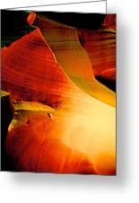 Inferno In Lower Antelope Canyon-az Greeting Card