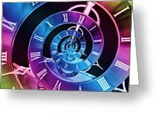 Infinite Time Rainbow 1 Greeting Card