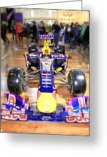 Infiniti Red Bull Formula One Racing Car  Greeting Card