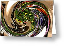 Infinity Flower Spiral 1 Greeting Card