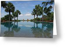 Infinity Pool Of Aureum Palace Hotel Greeting Card