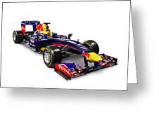 Infinity Red Bull Rb9 Formula 1 Race Car Greeting Card