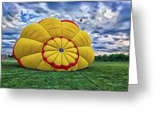 Inflating The Hot Air Balloon Greeting Card