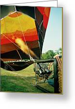 Inflation Of A Hot Air Balloon Greeting Card