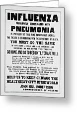 Influenza Poster Greeting Card