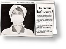 Influenza Prevention, 1918 Pandemic Greeting Card