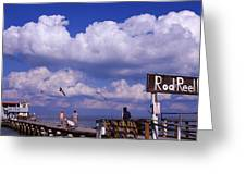 Information Board Of A Pier, Rod Greeting Card
