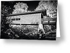 Infrared Covered Bridge Greeting Card