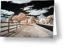Infrared Park Drive Greeting Card