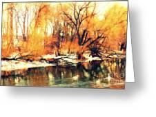 Inizio Inverno Greeting Card by Halina Nechyporuk
