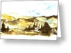 Ink Landscape Greeting Card