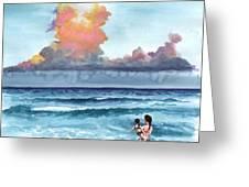 Inktobe 27 Storm Coming Greeting Card