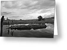 Inle Lake In Burma Greeting Card