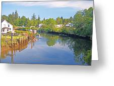 Inlet Of The Columbia River At Skamokawa Washington Greeting Card