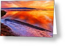 Inlet Sunset Greeting Card